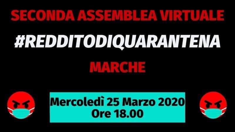 Marche: 2° Assemblea in web call #RedditodiQuarantena