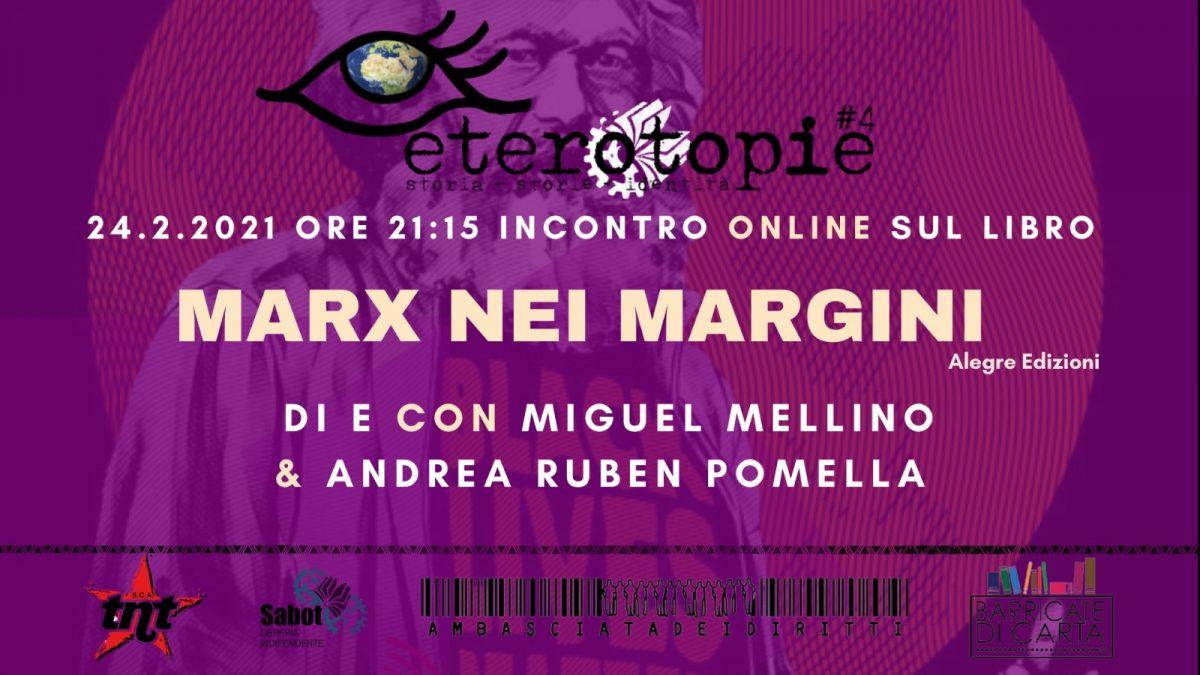 """Presentazione online del libro """"Marx nei margini"""""""